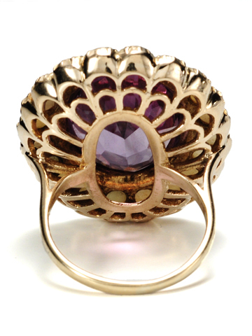 The Statement: Amethyst & Pearl Vintage Ring
