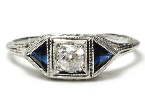 An American Beauty Art Deco Ring