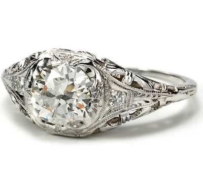 Modern Diamond Ring of .98 Carats