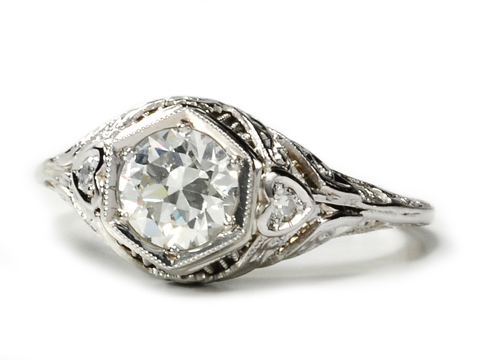 Of the Heart - Old European Diamond Ring