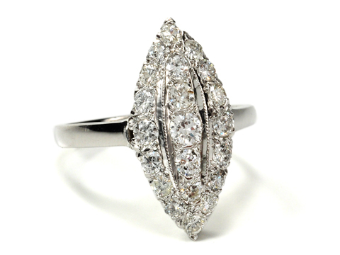 Point of Interest - Navette Shaped Diamond Ring