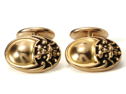 Art Nouveau Foo Dog Cufflinks