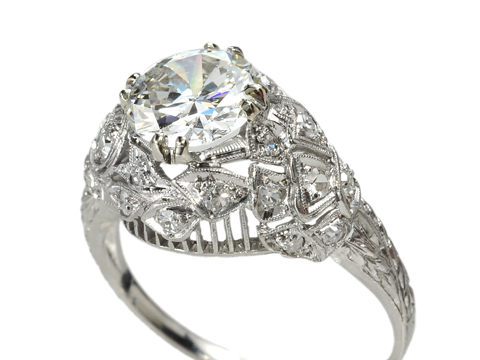 Art Deco Damsel in Platinum & Diamonds
