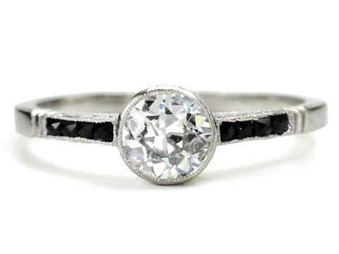 The Ritz: Art Deco Diamond & Onyx Ring