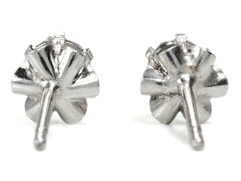Double Illusion?  Diamond Earrings in White Gold