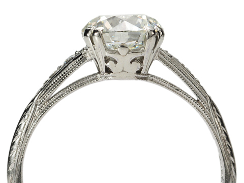 Early 20th C Diamond Platinum Ring