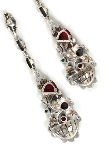 Art Deco Marcasite Giardinetto Earrings