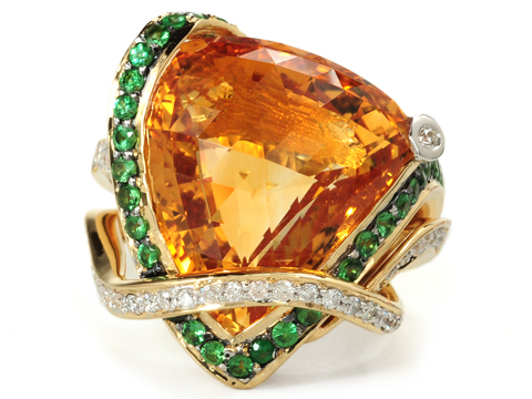 Italian Flash in a Gem-set Citrine Ring