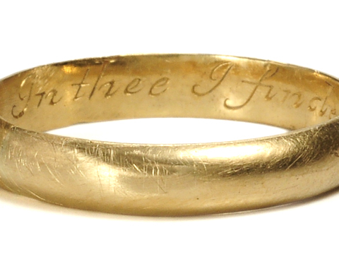 In Thee I Finde ... Antique Poesy Ring