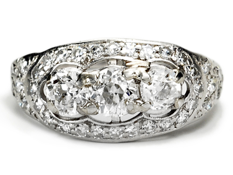 Glinting Delight - Diamond Platinum Ring