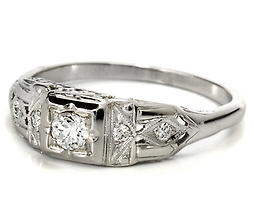 More & More - Art Deco Diamond Ring