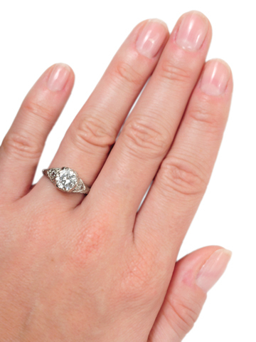 C'est Tout: Platinum Diamond Engagement Ring of 1.30 c