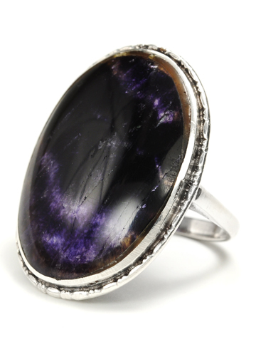 Art Deco Era Blue John & Silver Ring