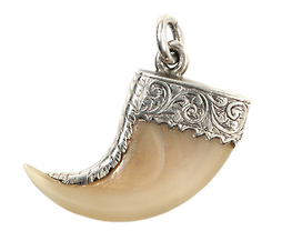 Antique Silver Tiger Claw Pendant