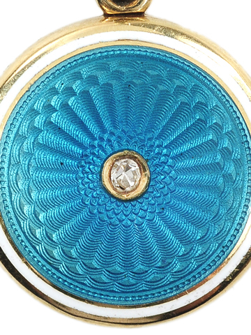 Blue Horizons - Guilloché Enamel Locket