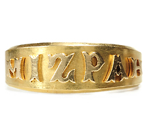 Victorian Era 18k Gold Mizpah Ring