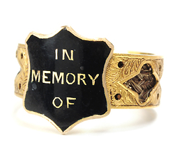 "Victorian Sentimental ""In Memory Of"" Ring"