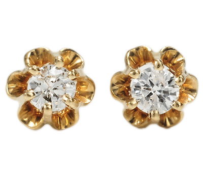 Buttercups & Gems: Gold Diamond Earrings