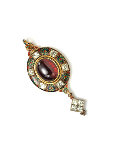 Hancocks of London Holbeinesque Garnet Pendant