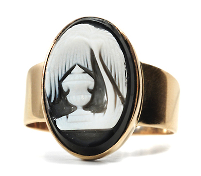 Georgian Sentimental Cameo Ring