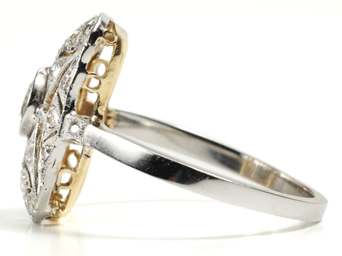 Alluring Open Work Platinum Diamond Ring