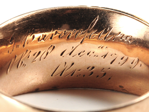 Georgian Memorial Enamel Hair Ring