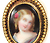 Antique Porcelain Portrait Miniature Earrings