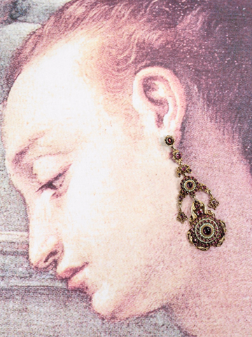 Sumptuous Antique Austro Hungarian Pendant Earrings