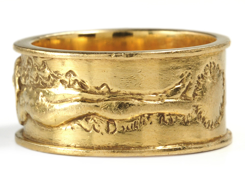 Rodin's Kiss on an 18k Gold Band