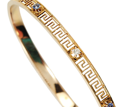 Edwardian Sapphire & Diamond Bangle