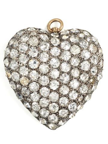 Pavé Paste Heart Pendant Brooch