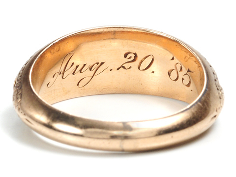 "Victoriana: August 20th 1885 – ""Robbie"" Hair Ring"