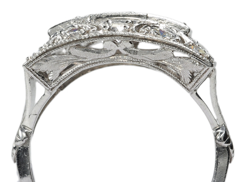 20th C. Flash in a Platinum Diamond Ring