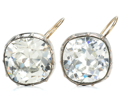 Night Star - Dazzling Large Solitaire Paste Earrings