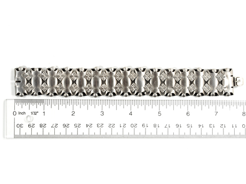 Victorian Silver Book Chain Bracelet