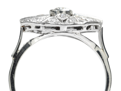 Into the Horizon - Art Deco Diamond Ring