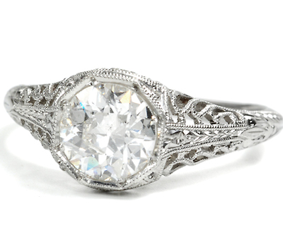 Engagement Ring - Old European Diamond 1.01 C