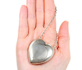 Antique Sterling Heart Locket Box