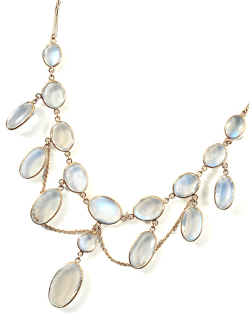 Edwardian Festoon Necklace of Moonstone