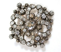 Fiery Antique Diamond Pendant Brooch