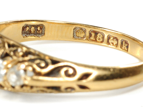 Edwardian Scrolls in a Diamond-Set Ring