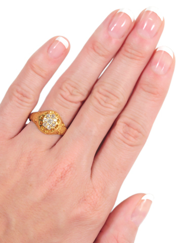 Earth & Sky: Victorian Diamond Dome Ring