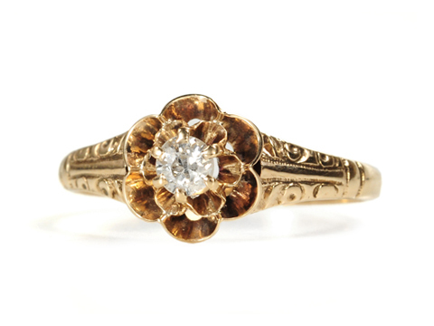 Victorian Buttercup of a Diamond Ring