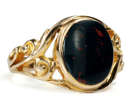 Art Nouveau Bloodstone Ring