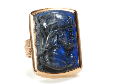 Victorian Carved Labradorite Ring