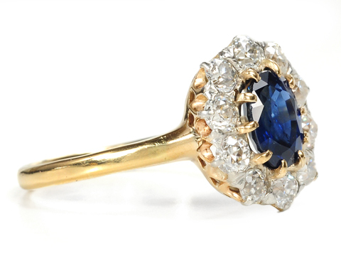 American Beauty: Sapphire & Diamond Cluster Ring