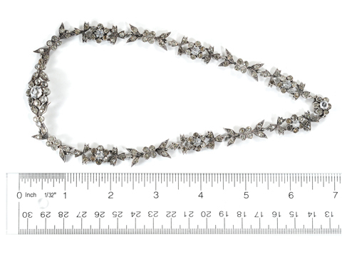 French Victorian Silver Paste Necklace