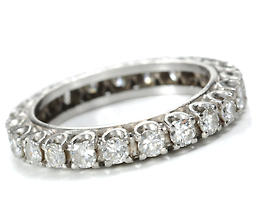 Fire in Ice: Diamond Platinum Eternity Band