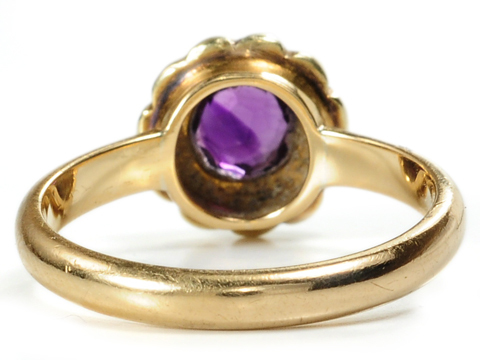 Delicate Antique Amethyst & Pearl Ring