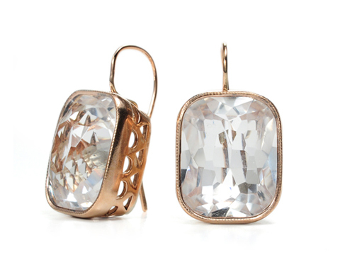 Mid 20th Century Rock Crystal Earrings